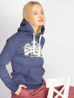 Superdry Sweat capuche Vintage Logo Puff Embroidery bleu
