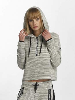 Superdry Sweat capuche Sport Gym Technical Luxe Crop gris