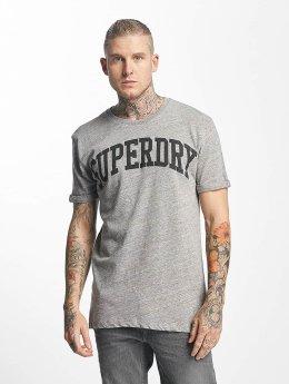 Superdry T-paidat Varsity Long Line harmaa