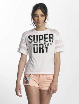 Superdry T-paidat Pacific Pieced valkoinen