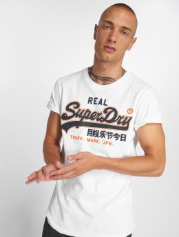 Superdry T-shirt Vintage Logo Entry bianco