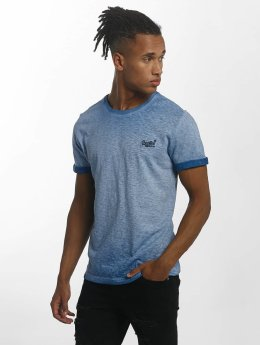 Superdry T-Shirt Orange Labl Low Roller blau