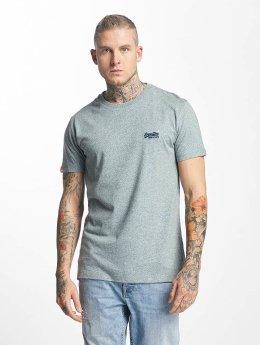 Superdry T-Shirt Orange Label Vintage Embroidered blau
