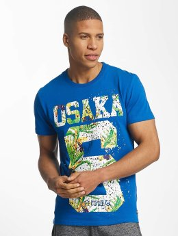 Superdry t-shirt Osaka Hibiscus Infill blauw