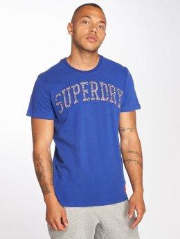 Superdry t-shirt Varsity Embossed blauw