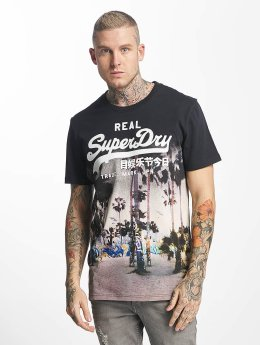 Superdry T-Shirt Vintage Logo Photographic bleu