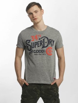 Superdry T-Shirt NYC Goods CO grau