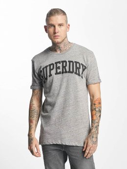 Superdry T-Shirt Varsity Long Line grau