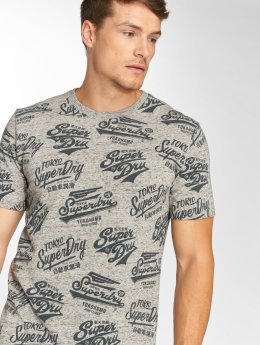 Superdry T-Shirt Triple Logo grau