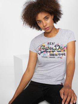 Superdry T-Shirt Vintage Logo Puff Emb Entry grau