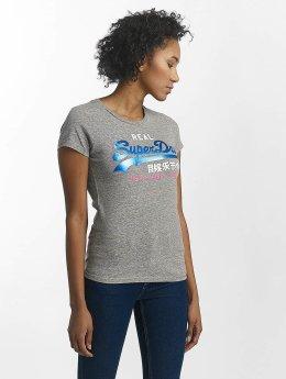 Superdry t-shirt Vintage Logo Tri Foil Entry grijs