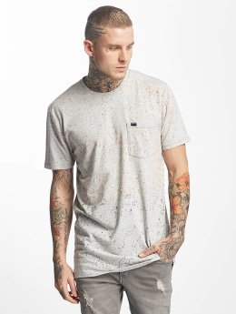 Superdry Tropics Longline T-Shirt Grey Marl Splatter