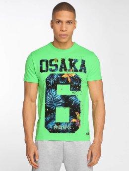 Superdry t-shirt Osaka Hibiscus Infill groen