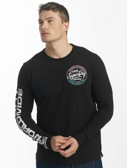 Superdry T-Shirt manches longues World Wide Ticket Type noir