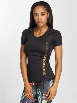 Superdry T-Shirt Sport Fitted Mesh noir