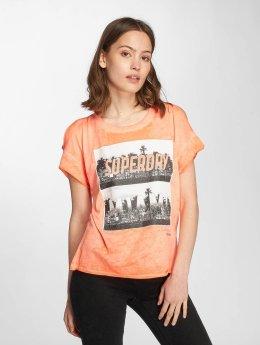 Superdry t-shirt Miami Palm oranje