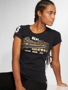 Superdry T-Shirt Vintge Logo schwarz