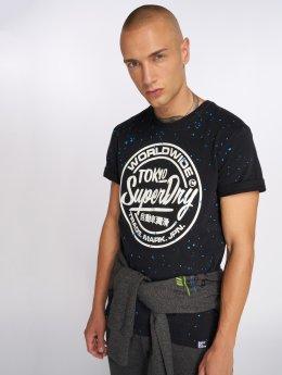 Superdry t-shirt Worldwide Tickettype zwart