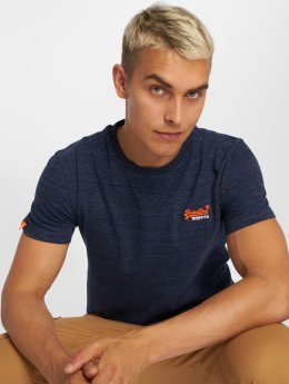 Superdry T-shirts Orange Label Vintage blå