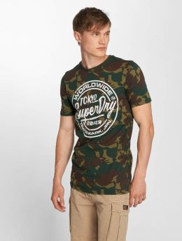 Superdry T-shirts Urban Camo Long Line camouflage