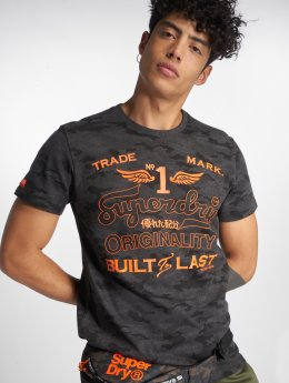 Superdry T-shirts High Flyers Low Roller Camo grå