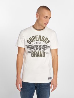 Superdry T-Shirty Built To Last Heritage Classic bialy