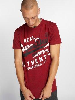 Superdry T-Shirty Vintage Authentic czerwony