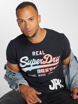 Superdry T-skjorter Vintage Logo 1st blå