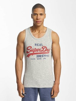Superdry Tank Tops Vintage Logo Duo Entry grau
