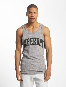 Superdry Tank Tops Varsity Long Line grau