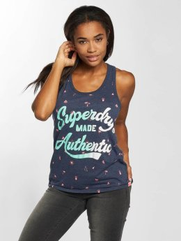 Superdry Tops sans manche Made Authentic Entry bleu