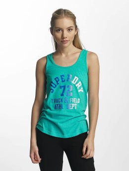 Superdry Tops sans manche Trackster turquoise