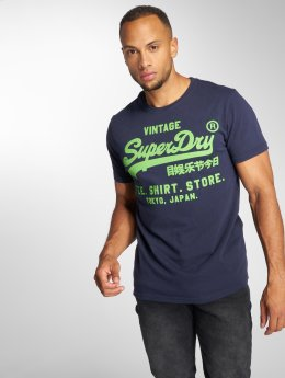 Superdry Trika Shop modrý