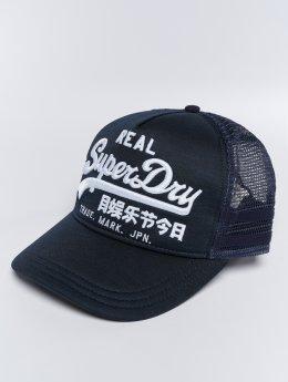 Superdry trucker cap Vintage Logo Edition blauw