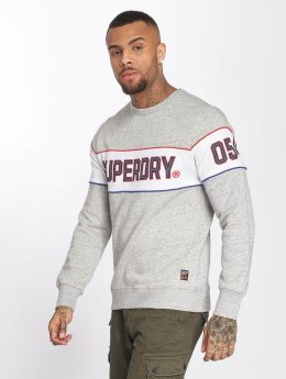 Superdry trui Retro Stripe grijs