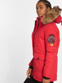 Superdry Winterjacke Ashley Everest rot
