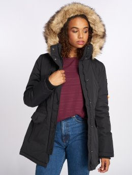 Superdry Winterjacke Ashley Everest schwarz