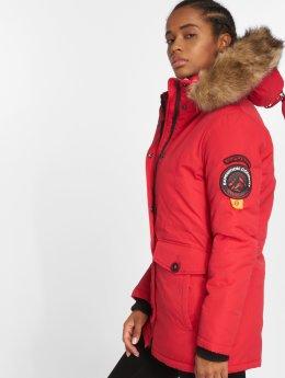 Superdry winterjas Ashley Everest rood