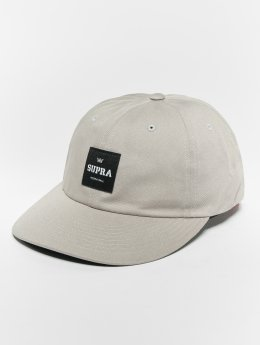 Supra Label Slider Snapback Cap Light Grey