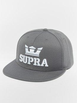 Supra Snapback Cap Above grau