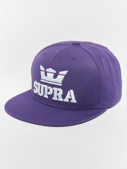 Supra Snapback Caps Above purpuranpunainen