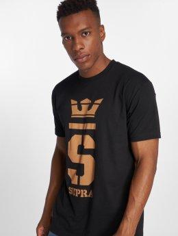 Supra T-Shirty Champ czarny