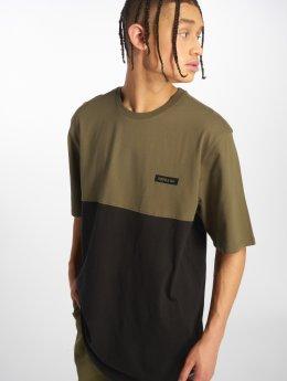 Supra T-Shirty Block Ss oliwkowy