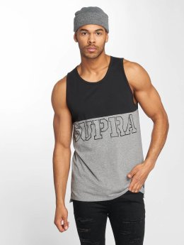 Supra Block Tank Top Black/Heather Grey