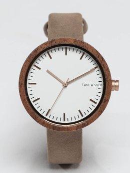 TAKE A SHOT horloge Moira Walnussholz wit
