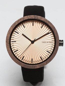TAKE A SHOT / horloge Nana Walnussholz in zwart