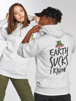 Tealer Hoodie Earth Sucks gray