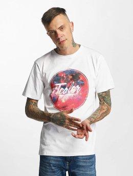 Tealer T-shirts Rond Galaxy hvid