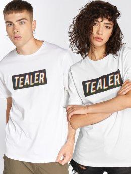 Tealer T-shirts Box Logo RVB hvid
