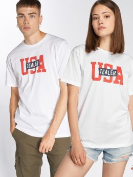 Tealer T-Shirty USA Logo bialy